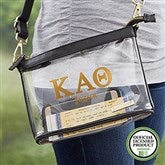 Kappa Alpha Theta Personalized Clear Stadium Purse - 21447
