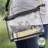 Kappa Delta Personalized Clear Stadium Purse - 21448