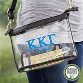 Kappa Kappa Gamma Personalized Clear Stadium Purse - 21449