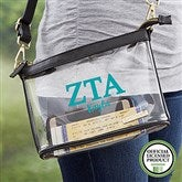 Zeta Tau Alpha Personalized Clear Stadium Purse - 21451