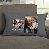 For Her 2 Photo Collage Personalized Lumbar Throw Pillow - 21453-LB