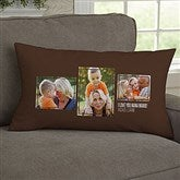 For Her 3 Photo Collage Personalized Lumbar Throw Pillow - 21454-LB