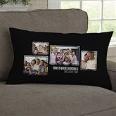 For Her 4 Photo Collage Personalized Lumbar Throw Pillow - 21455-LB