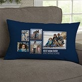 For Her 5 Photo Collage Personalized Lumbar Throw Pillow - 21456-LB
