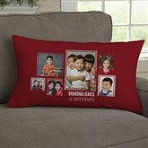 For Her 6 Photo Collage Personalized Lumbar Throw Pillow - 21457-LB