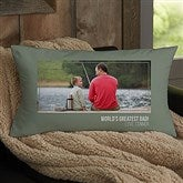 For Him Photo Personalized Lumbar Throw Pillow - 21458-LB