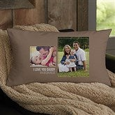 For Him 2 Photo Collage Personalized Lumbar Throw Pillow - 21459-LB