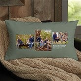 For Him 3 Photo Collage Personalized Lumbar Throw Pillow - 21460-LB