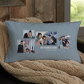 For Him 4 Photo Collage Personalized Lumbar Throw Pillow - 21461-LB