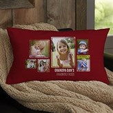 For Him 6 Photo Collage Personalized Lumbar Throw Pillow - 21463-LB
