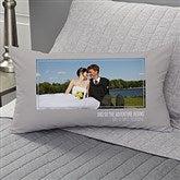 Wedding Photo Personalized Lumbar Throw Pillow - 21464-LB