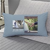 Wedding 2 Photo Collage Personalized Lumbar Throw Pillow - 21465-LB