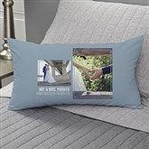 Wedding 2 Photo Collage Personalized Lumbar Throw Pillow - 21465-LB