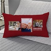 Wedding 3 Photo Collage Personalized Lumbar Throw Pillow - 21466-LB