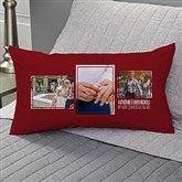 Wedding 3 Photo Collage Personalized Lumbar Throw Pillow - 21466-LB