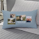 Wedding 4 Photo Collage Personalized Lumbar Throw Pillow - 21467-LB