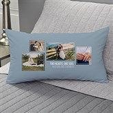 Wedding 4 Photo Collage Personalized Lumbar Throw Pillow - 21467-LB