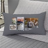 Wedding 5 Photo Collage Personalized Lumbar Throw Pillow - 21468-LB