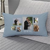 Wedding 6 Photo Collage Personalized Lumbar Throw Pillow - 21469-LB
