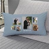 Wedding 6 Photo Collage Personalized Lumbar Throw Pillow - 21469-LB