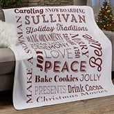 Holiday Traditions Personalized 50x60 Sweatshirt Blanket - 21495-SW