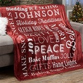 Holiday Traditions Personalized 60x80 Fleece Blanket - 21495-FL
