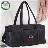 Chi Omega Embroidered Quilted Duffel Bag - 21502