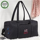 Delta Zeta Embroidered Quilted Duffel Bag - 21505