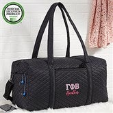 Gamma Phi Beta Embroidered Quilted Duffel Bag - 21506