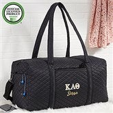 Kappa Alpha Theta Embroidered Quilted Duffel Bag - 21507