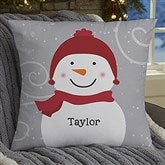 Snowman Family Personalized 18