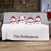 Snowman Family Personalized 60x80 Fleece Blanket - 21537-FL