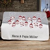 Snowman Family Personalized 50x60 Sherpa Blanket - 21537-S