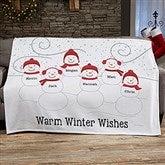 Snowman Family Personalized 50x60 Sweatshirt Blanket - 21537-SW