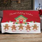 Gingerbread Family Personalized 50x60 Fleece Blanket - 21538-F