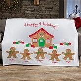 Gingerbread Family Personalized 50x60 Sweatshirt Blanket - 21538-SW