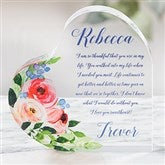 Write Your Own Romantic Floral Personalized Colored Heart Keepsake - 21556
