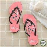 Delta Zeta Personalized Adult Flip Flops - 21565