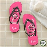 Gamma Phi Beta Personalized Adult Flip Flops - 21566