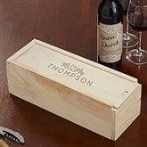Infinite Love Engraved Wedding Wood Wine Box - 21572