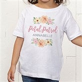 Floral Wreath Flower Girl Personalized Toddler T-Shirt - 21596-TT