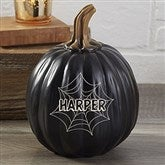 Spiderwebs Personalized Resin Pumpkin - Small