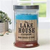 Home Away From Home Personalized Triple Pour Candle Jar - 21611