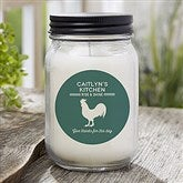 Farmhouse Kitchen Personalized Candle Jar - 21625