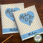 Alpha Delta Pi Personalized Large Notebooks-Set of 2 - 21636