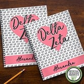 Delta Zeta Personalized Large Notebooks-Set of 2 - 21640
