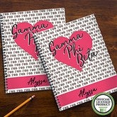 Gamma Phi Beta Personalized Large Notebooks-Set of 2 - 21641