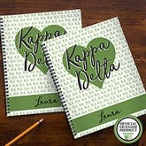 Kappa Delta Personalized Large Notebooks-Set of 2 - 21643