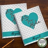 Zeta Tau Alpha Personalized Large Notebooks-Set of 2 - 21646