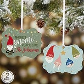 Gnome Family Personalized 2-Sided Ornament - 21667